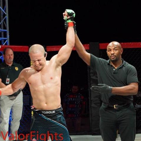Ian Lawyer victorious in MMA, Image by Primo Chalk